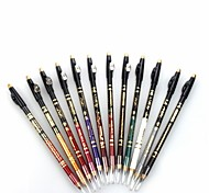 Professional 24 Hour Lasting Waterproof Colorful Liquid Eyeliner Pencil with Pencil Sharpener12 Pcs