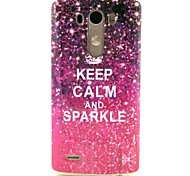 Sparkle Keep Clam  TPU Soft Case Cover for LG G3