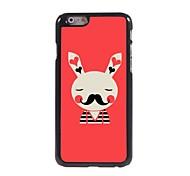 Beard Rabbit Pattern Aluminum Hard Case for iPhone 6 Plus