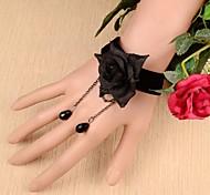 Korea Top Fashion Black Lace Design Charms Women Bracelet Jewelry