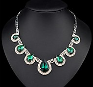 European and American Hot Fashion Water Glass Statement Necklaces (Hualuo Jewelry)