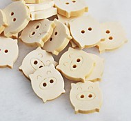 Piggy Scrapbook Scraft Sewing DIY Wooden Buttons(10 PCS)