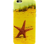 patrón de estrellas de mar playa TPU caso suave para el iphone 6