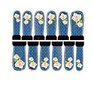 12pcs rose motif filigrane ongles art autocollants c5-012