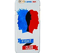 Fight Club Pattern Hard Back Case for iPhone 6 Plus