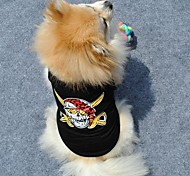 Cool Black Color Pirate Pattern Vest for Pet Dogs Assorted Sizes