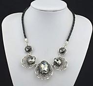 toonykelly moda squisita collana di cristallo della catena della corda (1 pc)