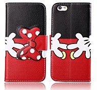 Naughty Hands Pattern PU Leather Full Body Cover with Stand for iPhone 6