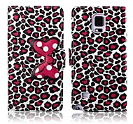 Attractive Leopard Print Pattern PU Leather Full Body Cover for Samsung Galaxy Note 4
