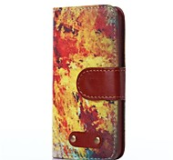 Flame Pattern Oxhide Character Retro PU Leather Case for iPhone4/4S