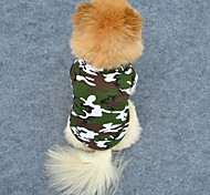 Camouflage Style Cotton Shirt for Dogs (XS-L, Green)