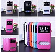couro janelas de cor sólida e soft case TPU para iphone 6 mais (cores sortidas)