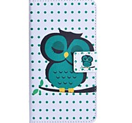 Sleeping Owl Pattern PU Leather Case with Stand and Card Slot for HTC Desire 516
