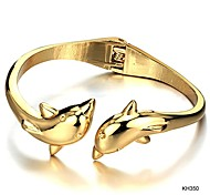 Fashion Personality Dolphins Ms Plating 18K Gold Bracelet