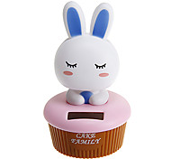 Cute Rabbit Shakeing Head Solar Powered Toys(Random Color)