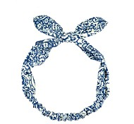 Elegant Blue And White Rabbit Fabric Hair Band