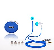 AWEI ES-700M  3.5mm In-Ear Earphones With MIC 3 Accessories for Samsung Phones