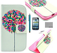 COCO FUN® Balloon Tree Pattern PU Leather Case with Screen Protector and Stylus for Samsung Galaxy Core GT-I8260 I8262