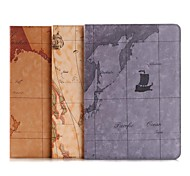 Stylish Map Pattern Smart Cover PU Leather Stand Case  for iPad Air 2 (Assorted Colors)