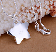 Colgantes Brillante Star Shape plata 1