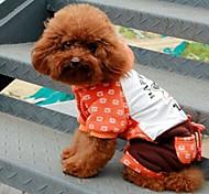 oranges grands bouche pantalons à pont siamois de haute qualité pour animaux de compagnie chien taille assortis pour animaux de compagnie chien