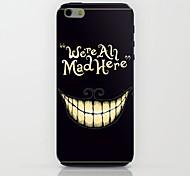 caso duro del patrón sonriente loco para el iphone 6