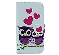The Owl Family Pattern PU Leather Full Body Case with Card Slot and Stand for Motorola X+1