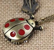 beatles vermelho unisex liga colar relógio de quartzo analógico (bronze)