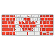 Angibabe  0.1mm Ultra-thin TPU Transparent Canada Flag Pattern Keyboard Cover for MacBook Air/Pro /Retina