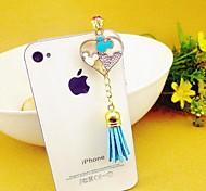 Herz Quaste 3.5mm Anti-Staub-Stecker für iPhone 6 und andere (zufällige Farben)