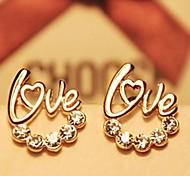 forma de diamante de amor brincos
