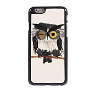 Ink Painting of Owl Pattern Aluminum Hard Case for iPhone 6