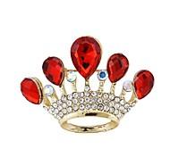 Fashion Crown Rhinestone Brooches Random Color