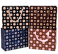 Lureme Fashion      Wave Point Pattern Gift Bag(Random Color)(1 Pc)