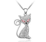 Smart Kitty Popular Short Necklace Plated With 18K True Platinum Light Rose Crystallized Austrian Crystal Rhinestone