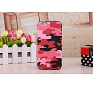 Hot Pink Camouflage Leather Coated TPU Case Cover for iPhone 6 Plus