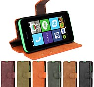 Frosted Styles PU Leather Full Body Cover with Stand and Card Slot for Nokia Lumia 530 (Assorted Colors)