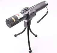 LT-0673 Lockable Muti-image  Adjustable  Match Burning  Green Laser Pointer (3MW,532nm,1x18650,Black)
