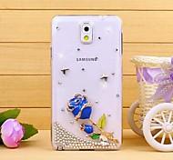 Luxus-Diamant-blaue Rose Rückseite Fall für Samsung Galaxy Note 3