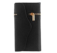 Unique Zipper PU Leather Wallet Magnetic Flip Hard Case Cover Card Holder for Apple iPhone 6