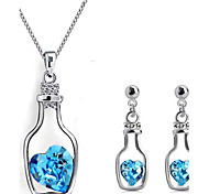 women's Bottle-shaped Diamond Jewelry Set