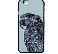 Serious Parrot Profile Face Pattern PC Hard Back Cover Case for iPhone 6