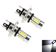 2Pcs H4 7.5W 5x Epileds COB 600LM 6000K White Light LED for Car Headlamp / Fog Lamp (DC 10-30V)