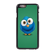 Special Blue Owl Pattern Aluminum Hard Case for iPhone 6
