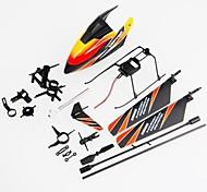 wl v911 rápido desgaste kit completo de accesorios: hoja canopy piezas de conexión de aterrizaje de patines