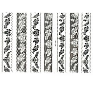 Lovely Nail Art Stickers Decals Wedding Lace Series Nail Accessory for Acrylic Nail Tips DIY Nail Art Decorations NO.19