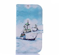 Sea Shipping Pattern U Leather Cover with Stand and Card Slot for Samsung Galaxy S3 Mini I8190