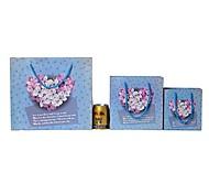 Lureme Fashion Pewter  Heart-shaped Flower Pattern Gift Bag(1 Pc)