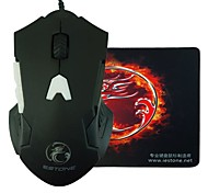 E-STONE GT700 Design LED Light Wired Gaming 2000DPI USB Mouse+Mouse Pad