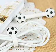 Football Cartoon Button Earphone Cable Wire Cord Organizer Cable Winder(2 Pcs)